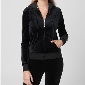 Juicy Couture Velour Black Tracksuit Size Large L
